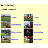 Lots of space for information about the many guild activities